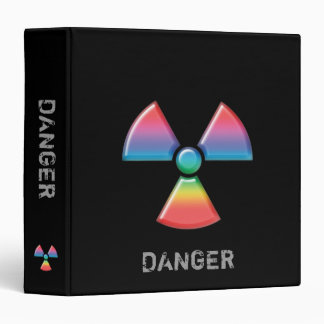 "Radioactive Warning Sign organizer - 1.5"" Binder"