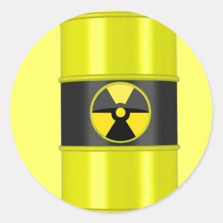 radioactive waste classic round sticker