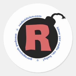 RadiOblivion R-Bomb Round Sticker