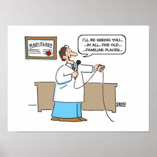 Radiologist Cartoon Poster