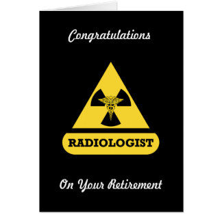 Radiologist Custom Retirement Card