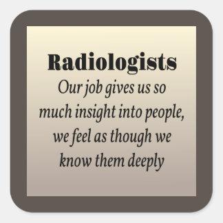 Radiologist Insight Square Sticker