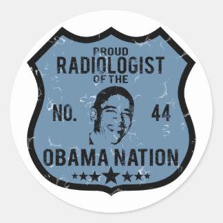 Radiologist Obama Nation Round Sticker