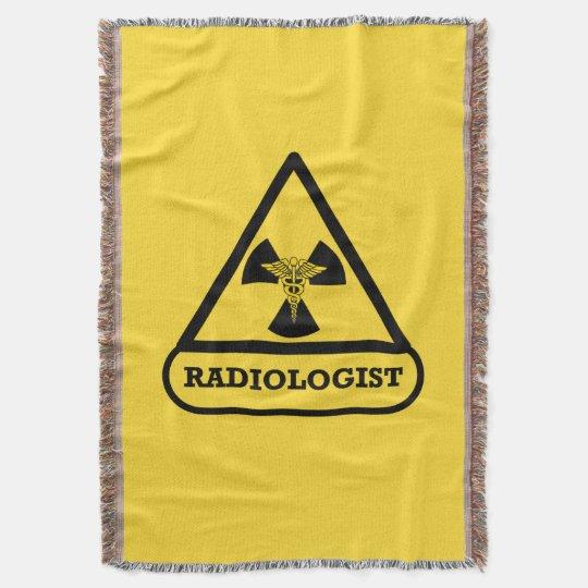 Radiologist Shield Throw Blanket