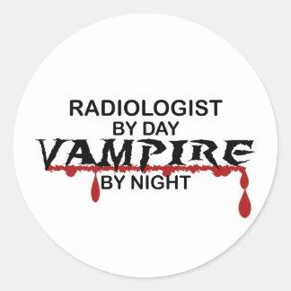 Radiologist Vampire by Night Round Sticker