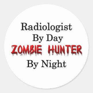 Radiologist/Zombie Hunter Round Sticker