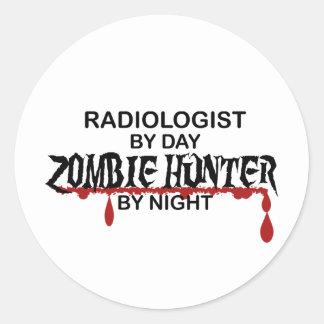 Radiologist Zombie Hunter Round Sticker