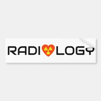 Radiology Love Bumper Sticker