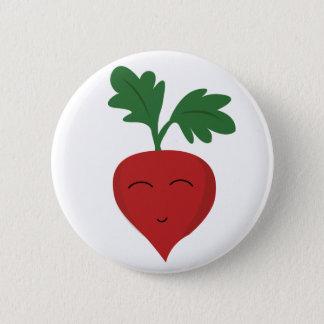 Radish 2 Inch Round Button