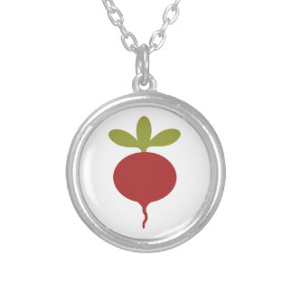 Radish Silver Plated Necklace