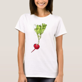 Radish vegetable watercolour illustration art T-Shirt