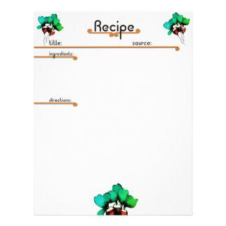 radishes vegetable cookbook recipe letterhead
