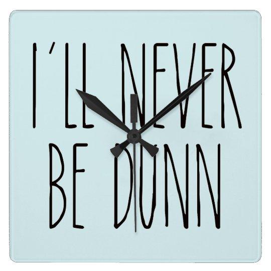 Rae Dunn Inspired Clock - Robin's Egg Blue