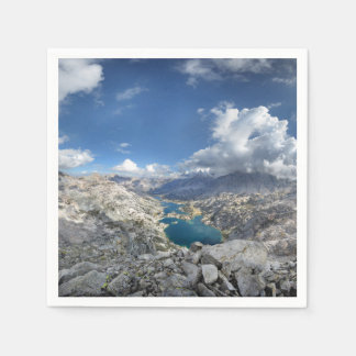 Rae Lakes from Painted Lady - John Muir Trail Paper Napkin