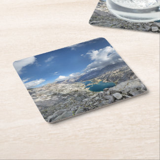 Rae Lakes from Painted Lady - John Muir Trail Square Paper Coaster