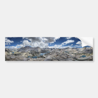 Rae Lakes Panorama from Fin Dome - John Muir Trail Bumper Sticker