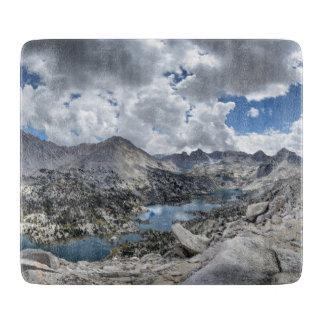 Rae Lakes Panorama from Fin Dome - John Muir Trail Cutting Board