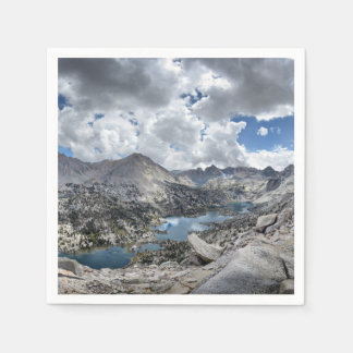 Rae Lakes Panorama from Fin Dome - John Muir Trail Disposable Napkins