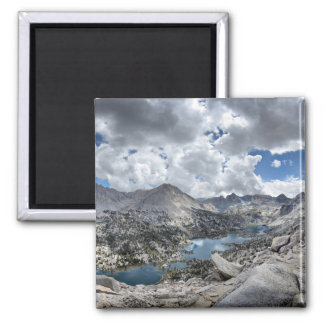 Rae Lakes Panorama from Fin Dome - John Muir Trail Magnet