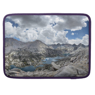 Rae Lakes Panorama from Fin Dome - John Muir Trail Sleeve For MacBooks