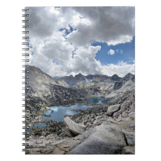 Rae Lakes Panorama from Fin Dome - John Muir Trail Spiral Notebook