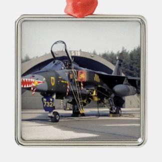 RAF 54 Squadron SEPECAT Jaguar GR.1 XX732 (1979) Silver-Colored Square Ornament