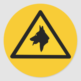 RAF Police Dogs On Patrol (1), Traffic Sign, UK Classic Round Sticker