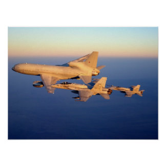 RAF Tristar and F-18C Hornet Poster
