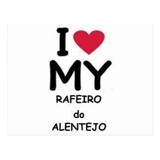 Rafeiro do Alentejo love Postcard