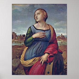 Raffael - St Catherine of Alexandria Poster