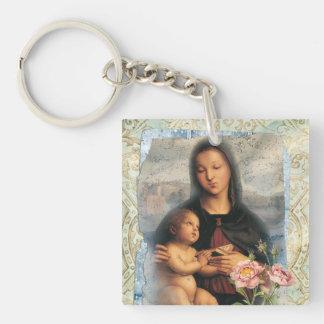 Raffaello Single-Sided Square Acrylic Keychain