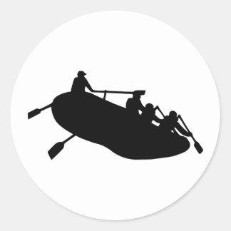 Rafting Classic Round Sticker