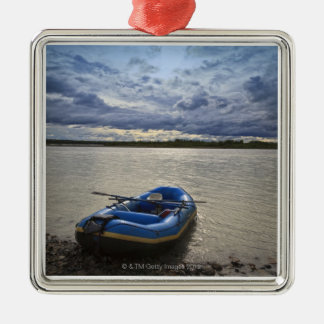 Rafting on Talkeetna River, Alaska Metal Ornament