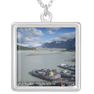 Rafting the Alsek River downstream Silver Plated Necklace