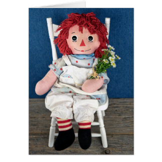 Rag Doll and Daisy Birthday Card