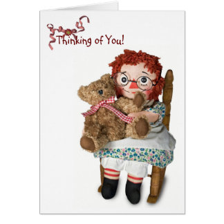 Rag doll for thinking of you card