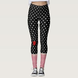 Rag Doll Polka Dots, Stripes and Hearts Leggings