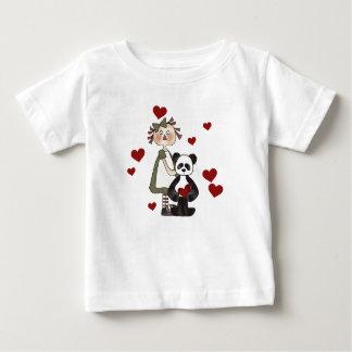 Ragdoll and Panda Valentines Baby T-Shirt
