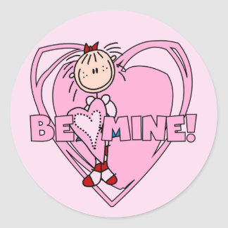 Ragdoll Be Mine Valentine Classic Round Sticker