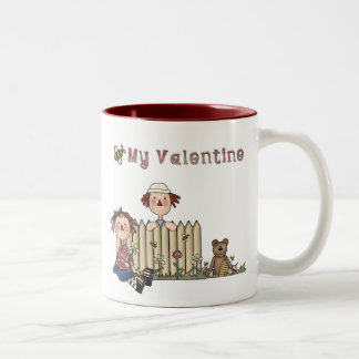 Ragdoll Bee My Valentine Two-Tone Coffee Mug