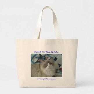 Ragdoll Cat Blue Bi-Color Large Tote Bag