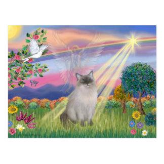 Ragdoll Cat (Blue Point) - Cloud Angel Postcard