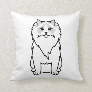 Ragdoll Cat Cartoon Throw Pillow