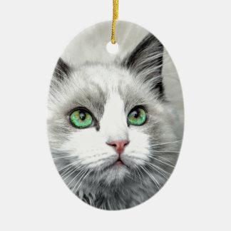 Ragdoll Cat. Ceramic Ornament