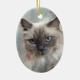 Ragdoll Cat Ceramic Ornament