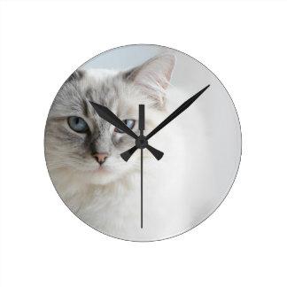 ragdoll cat clock