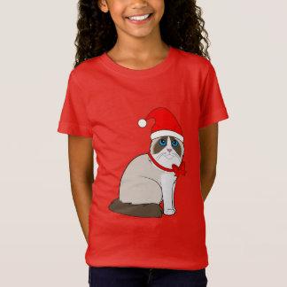 Ragdoll Cat Dressed in Santa Hat for Christmas T-Shirt