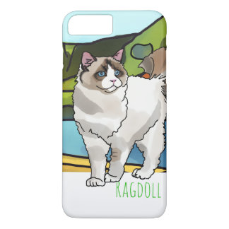 Ragdoll Cat + Pet Name iPhone 8 Plus/7 Plus Case