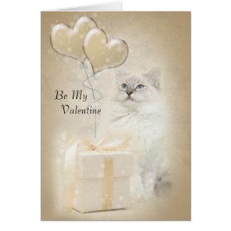 Ragdoll cat valentine card