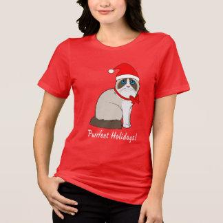 Ragdoll Cat with Santa Hat Purrfect Holidays! T-Shirt